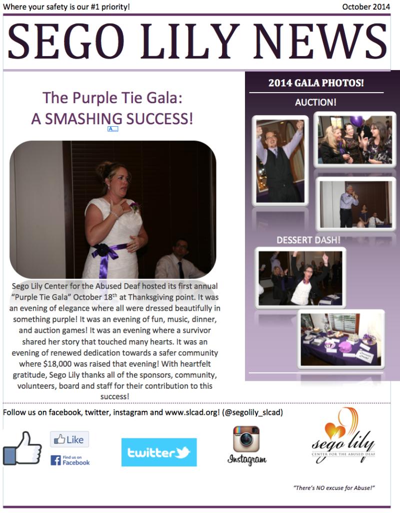 SLCAD Newsletter Oct 2014