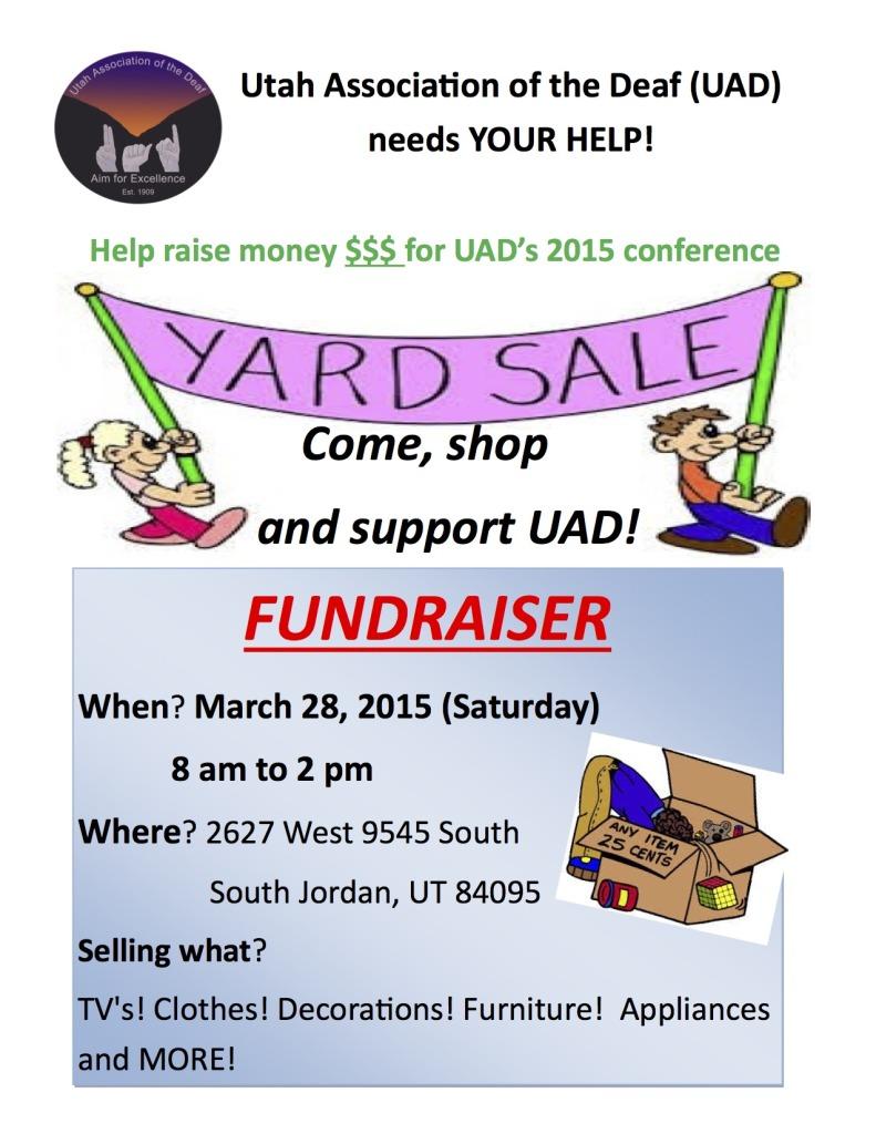 UAD yard sale march 2015